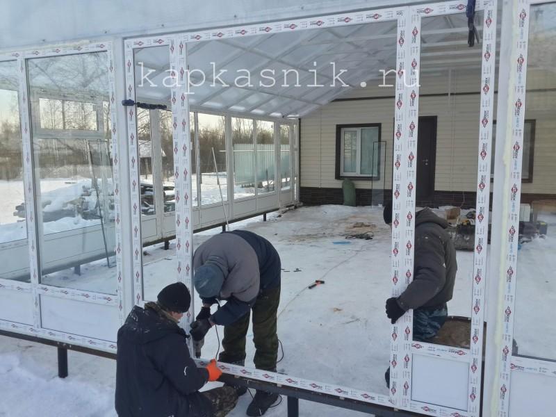 монтаж штульповой двери